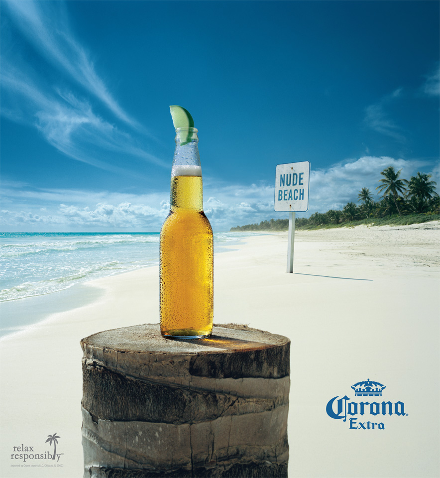 Corona by the beach!