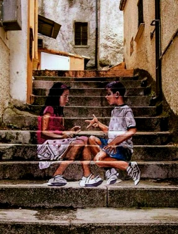 Asian art stairs
