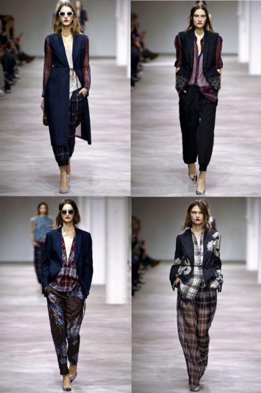Always love the menswear influences at Dries Van Noten. Spring 2013 RTW. Credit: Style.com