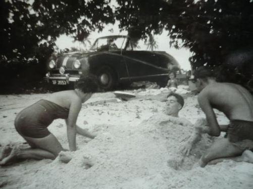 Changi Beach Singapore, 1958