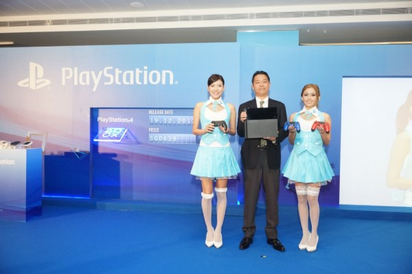 Hiroyuki Oda, Deputy President of Sony Computer Entertainment - introducing the new PS4 console and controllers