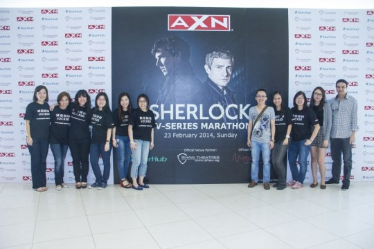 Sher-locked shirts, so haute couture. Credit: AXN