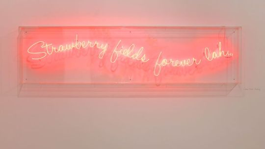 The Cheo Chia Hiang neon work at Galerie Michael Jannsen