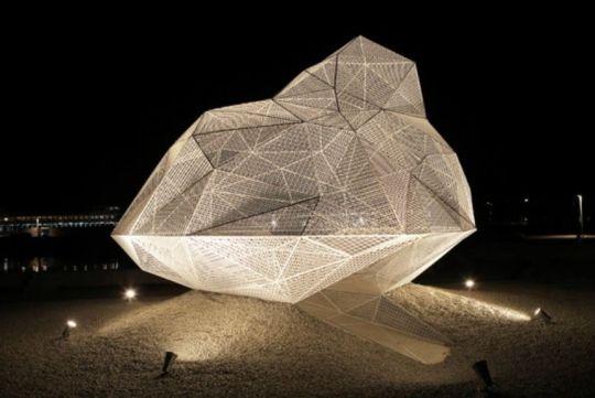 The 'Naoshima Pavilion' by Sou Fujimoto. Image courtesy for Blouin Artinfo