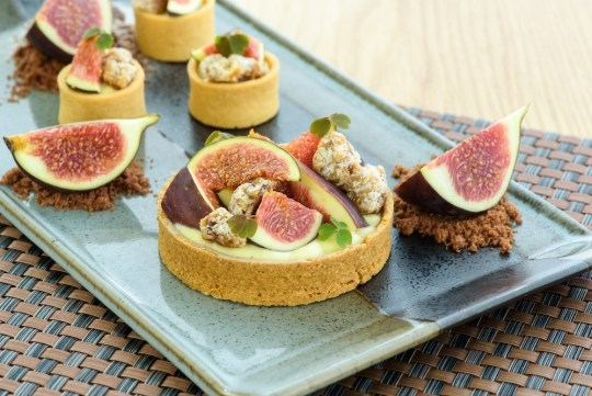 Blue Cheese Fig and Walnut Tart