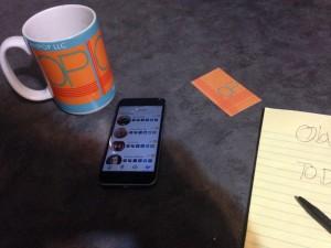 table background digital rolodex app
