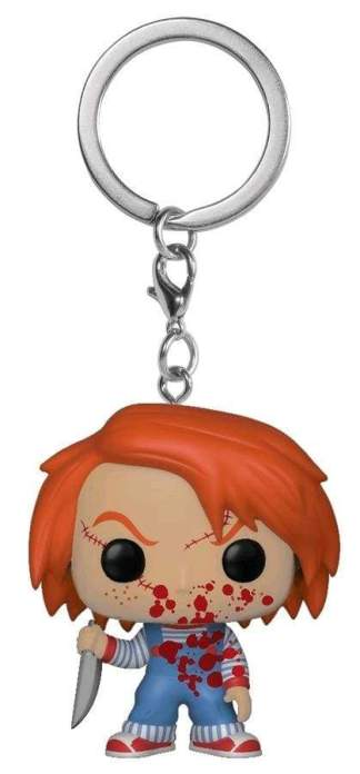 Image Child's Play - Chucky Blood Splattered US Exclusive Pocket Pop! Keychain [RS]