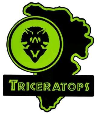 Image Jurassic Park - Triceratops Map Enamel Pin