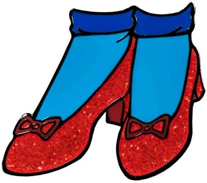 Image Wizard of Oz - Ruby Slippers Enamel Pin