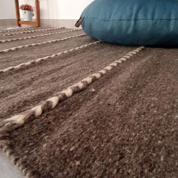 tapis laine tisse main