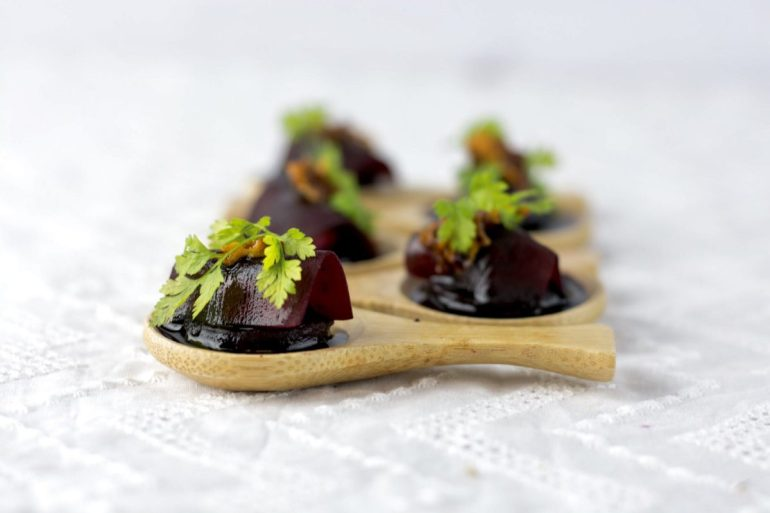 Seasonal food for wedding catering