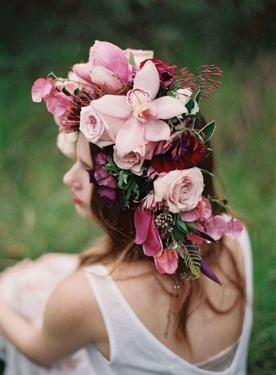 Flower Crowns bridal hairstyle