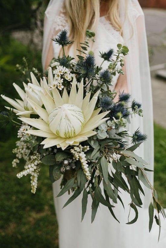 Foliage wedding bouquet