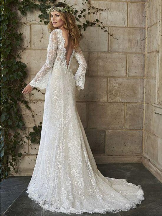 rustic boho wedding dress idea