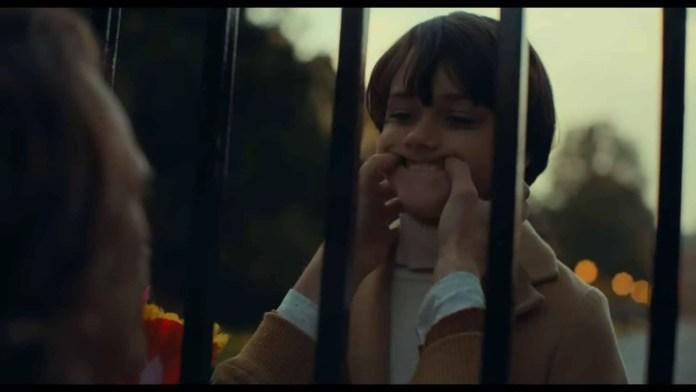 The Joker (Joaqin Phoenix) puts a smile on Bruce Wayne's (Dante Pereira-Olson) face   Sausage Roll