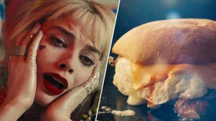 Harley Quinn breakfast burger scene called best cinematic moment ever