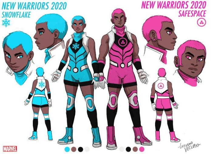 Gay twins non-binary Marvel heroes