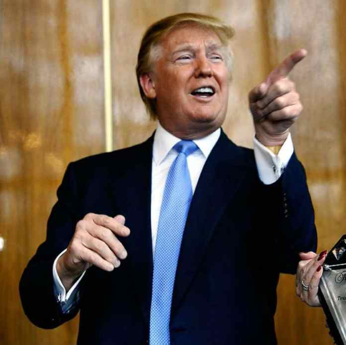 Trump pointing