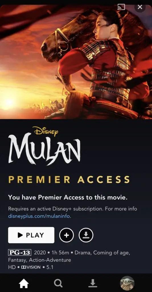 Diney+ Premier Access
