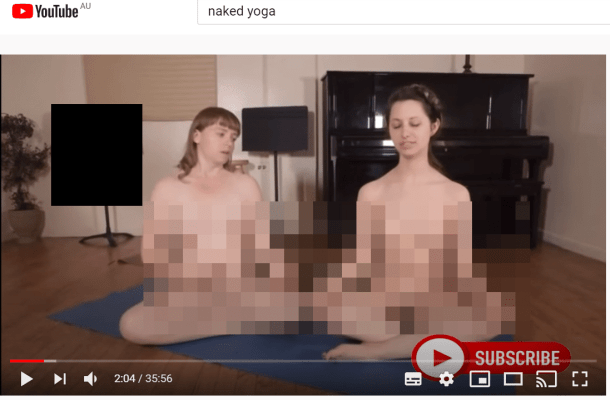 nude yoga NSFW YouTube