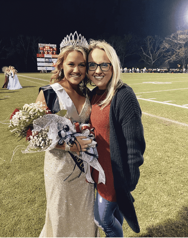 Emily Rose Grover, homecoming queen.