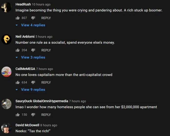 Neeko apartment YouTube video comments 2