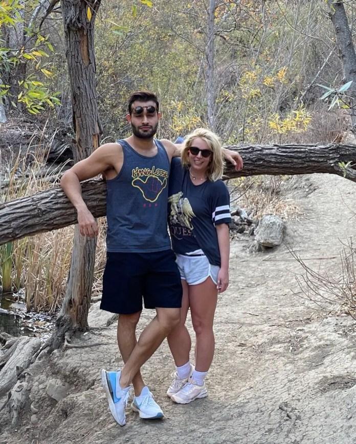 Britney Spears with her boyfriend/hushand