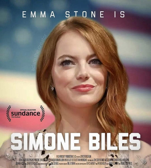 Emma Stone is Simone Biles