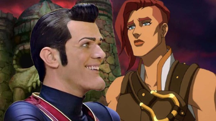 Teela from He-Man compared to Robbie Rotten from LazyTown