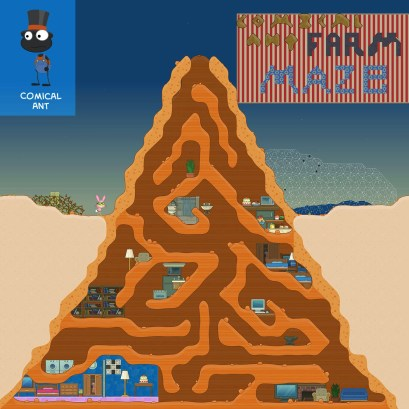 From Comical Ant, here's an ant farm maze. Mr. Silva from Shrink Ray Island would feel at home here!