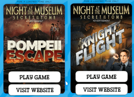 night museum games ad