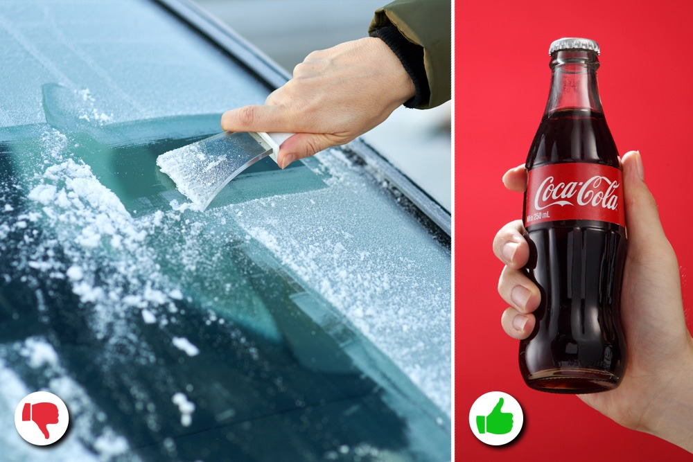 10 Amazing Uses You Never Knew About for Coca-Cola - Coca-Cola Used as Ice Defroster