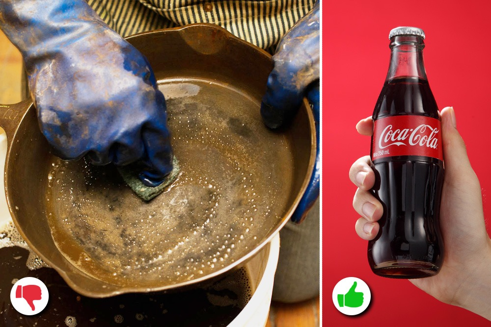 10 Amazing Uses You Never Knew About for Coca-Cola - Coca-Cola Used as Rust Remover