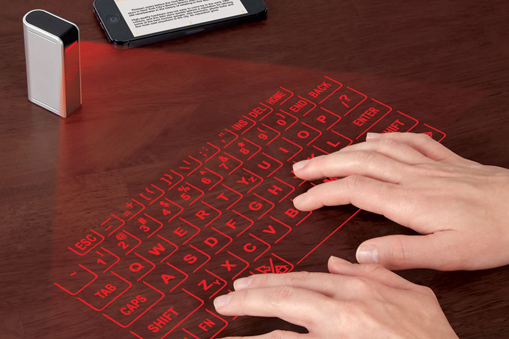 Jaw Dropping Inventions That Will Make Your Life Easier - Typing on Laser-projected Keyboard