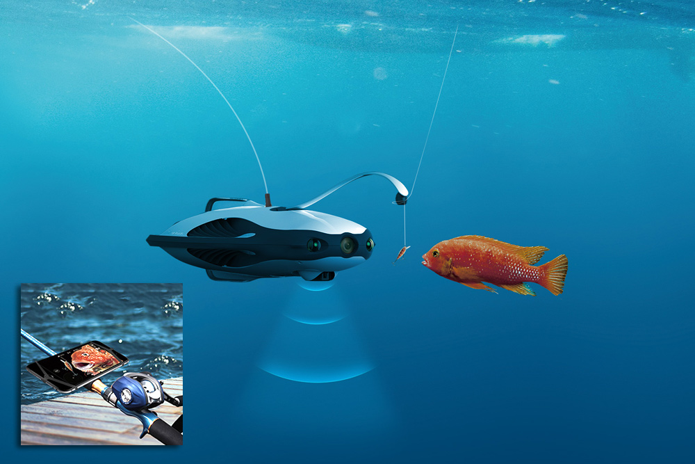 Jaw Dropping Inventions That Will Make Your Life Easier - PowerRay Aquatic Drone Attracts Fish