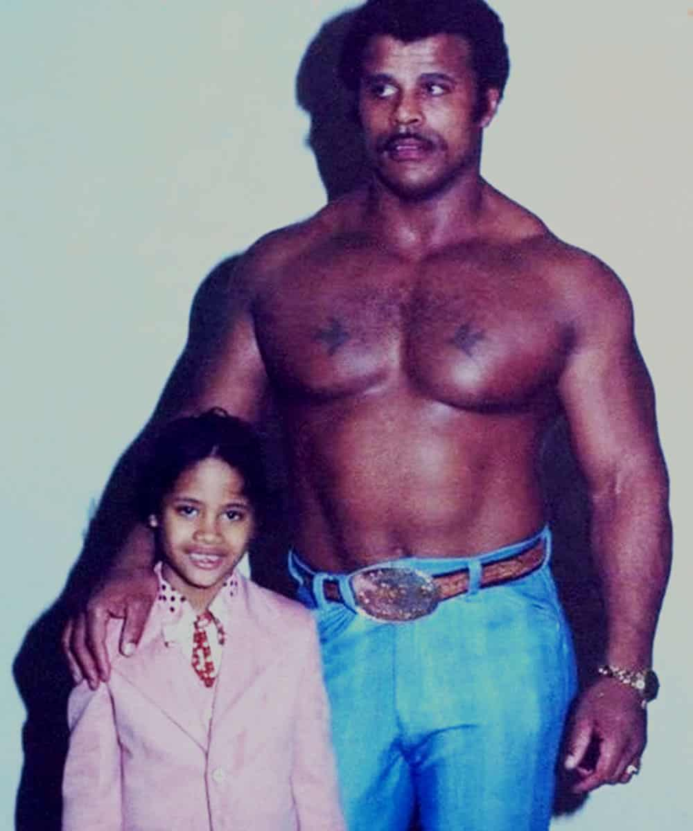 the rock and his dad