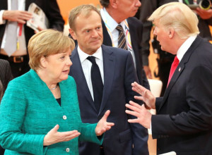 German Chancellor Angela Merkel, the President of the European Council Donald Tusk and US President Donald Trump. Reuters.