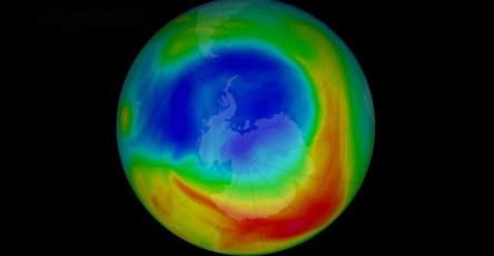 Размер озоновой дыры в атмосфере Земли уменьшился