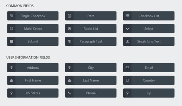 Common-fields-User-information-field-Ninja-forms-plugin