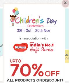 Children's day sales 70% off