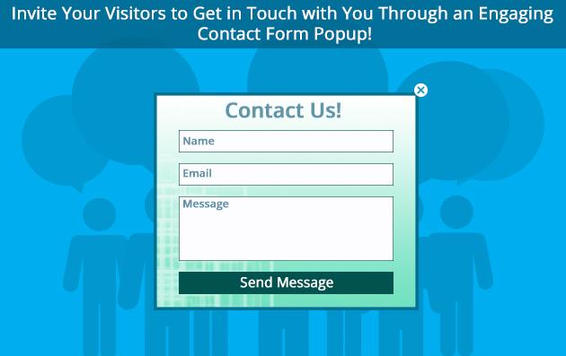 Contact form popup