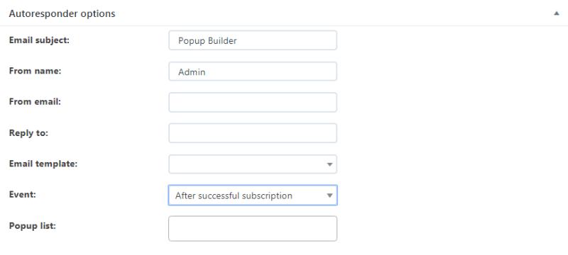 Auto responder options