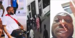 Watch as Davido and his men allegedly caught on camera assaulting a staff at a lounge (Videos)