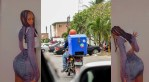 """""""You turn me on"""" – Dispatch rider 'toasts' lady after delivering a package to her, """"See Reactions"""""""