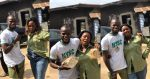 Proud moment a Nigerian mother wore her son's NYSC Khaki ; she sent him to school with the money she made from selling bread (PHOTOS)