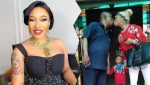 Tonto Dikeh reacts after being dragged for kissing her father mouth-to-mouth (Photo)