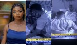 """""""Angel na lowkey Ashawo"""" Reactions as BBNaija's Angel shares passionate kiss with new guy, Kayvee and touches his d*ck (Video)"""