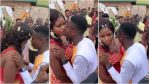 Lol; Bride Seriously Disgraces Groom As She Refuses To Kiss Him At Their Wedding [VIDEO]