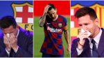 """""""Saddest photo on the internet today"""" – Reactions as Lionel Messi in tears as he says goodbye (Photos)"""