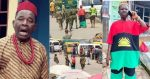 Moment Veteran Actor Chiwetalu Agu Got arrested By Nigerian Soldiers for Putting on Biafran Flag(Video)